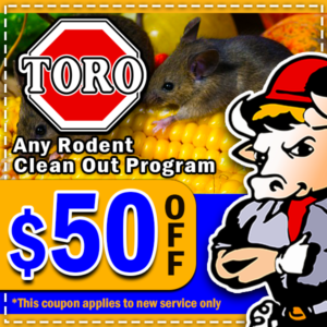 Toro Coupons - Rodent Clean Out